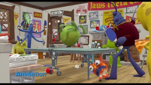 Etapas del Proceso de Animación en Monsters University